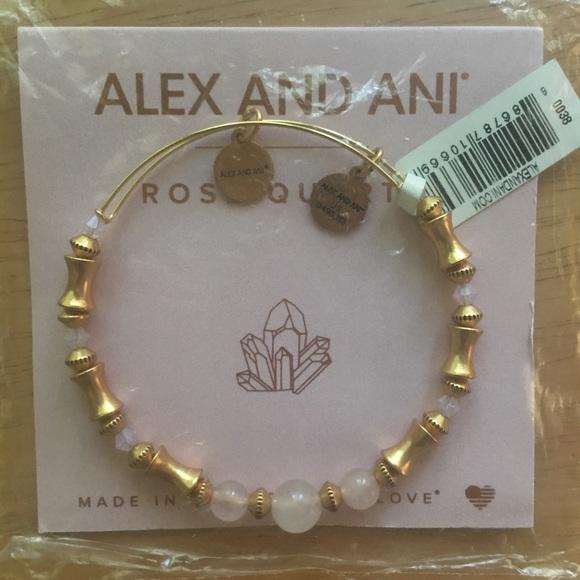 416302c3df602 🌷 Alex and Ani Rose Quartz Bracelet NWT NWT